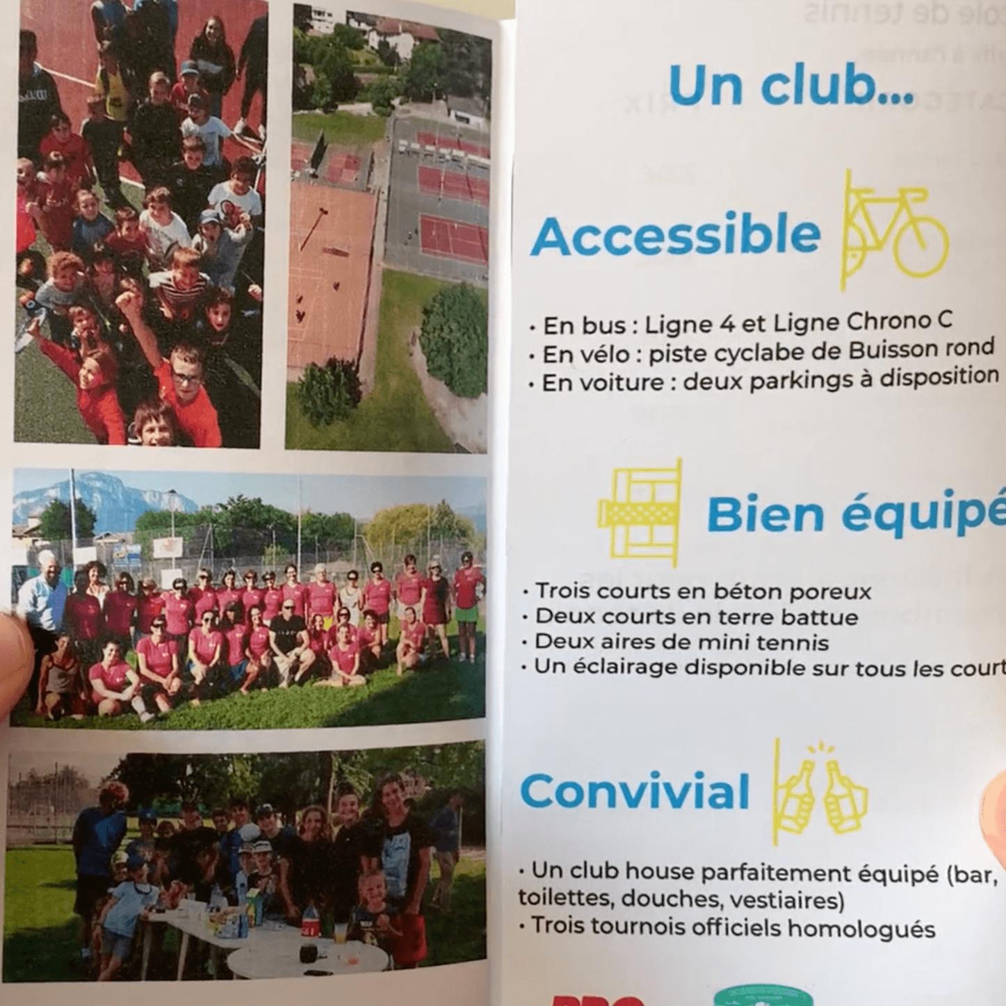 Brochure du Tennis Club de Barberaz