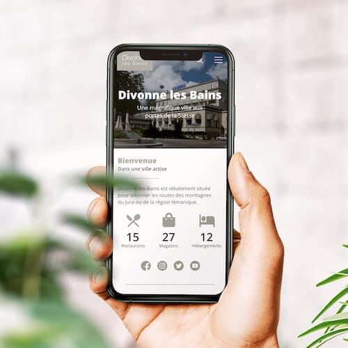 Maquette mobile pour l'office de tourisme de Divonne les Bains